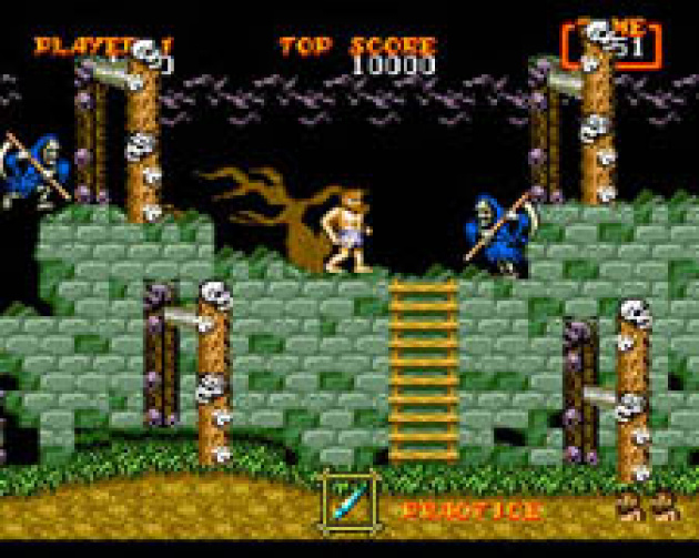 Death is always near in Ghouls 'n Ghosts (Literally!)