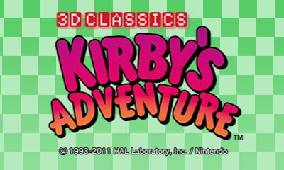 3D Classics: Kirby's Adventure Cover Artwork