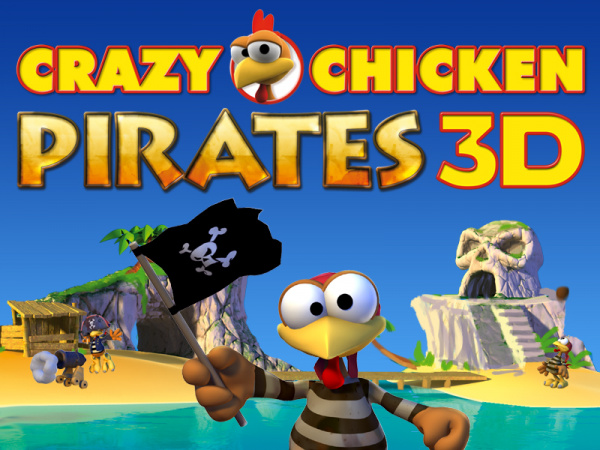 Crazy Chicken Pirates 3D Cover Artwork