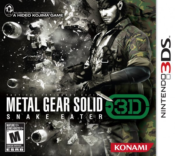 Metal Gear Solid: Snake Eater 3D Cover Artwork