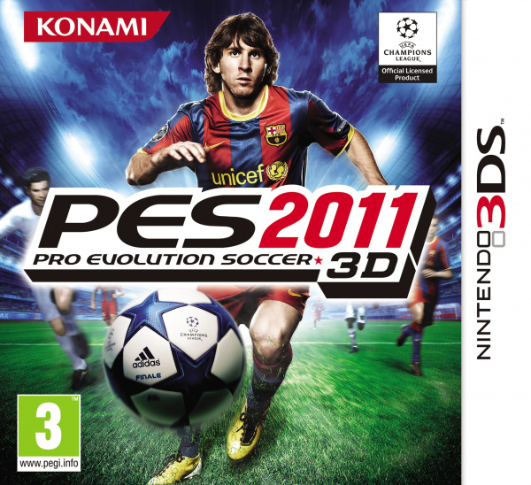 Pro Evolution Soccer 2011 3D Cover Artwork