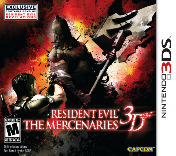 Resident Evil: The Mercenaries 3D Cover Artwork