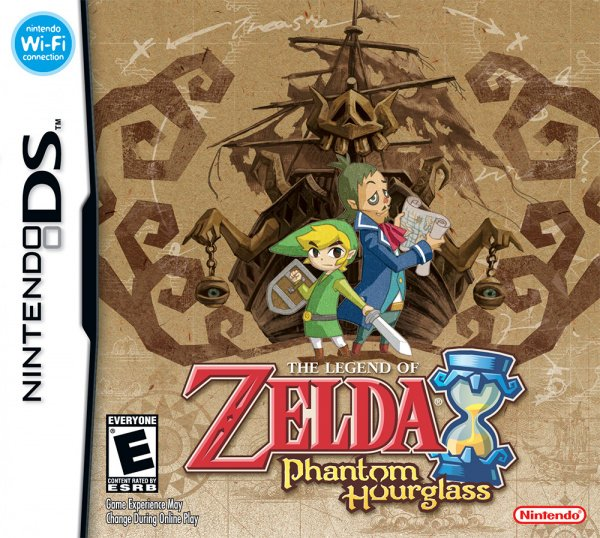 The Legend of Zelda: Phantom Hourglass Cover Artwork