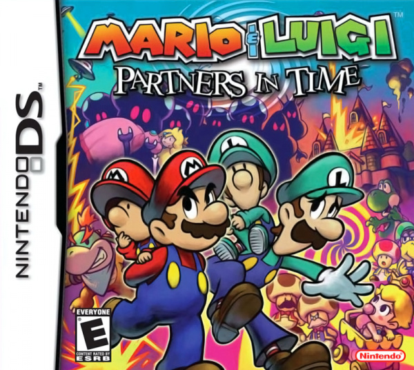 Mario & Luigi: Partners In Time Cover Artwork
