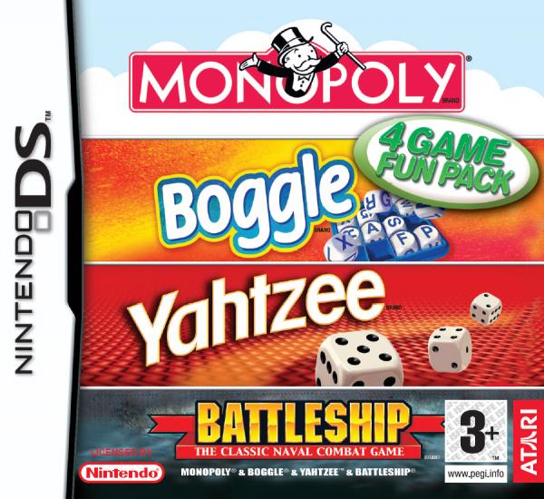 Monopoly, Boggle, Yahtzee, Battleship Cover Artwork