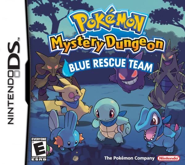 Pokémon Mystery Dungeon: Blue Rescue Team Cover Artwork