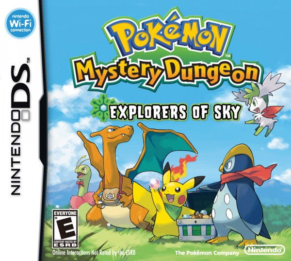 Pokémon Mystery Dungeon: Explorers of Sky Cover Artwork