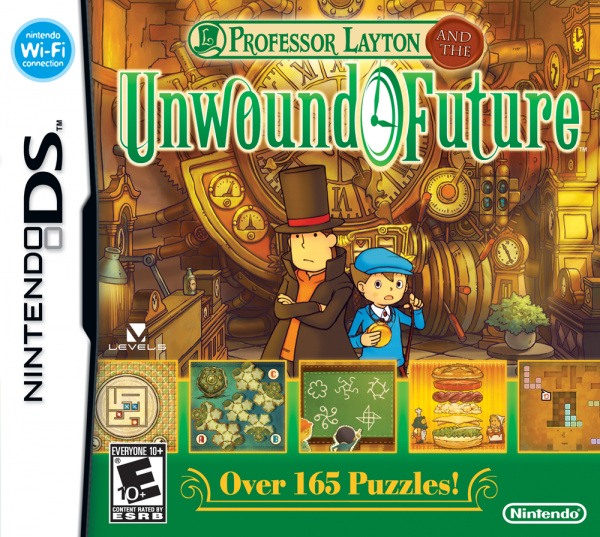 Professor Layton and the Unwound Future Cover Artwork