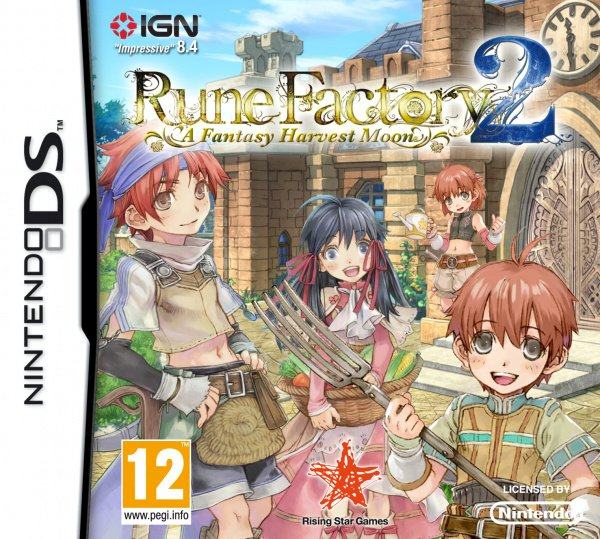 Rune Factory 2: A Fantasy Harvest Moon Cover Artwork