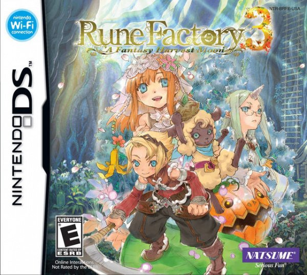 Rune Factory 3: A Fantasy Harvest Moon Cover Artwork