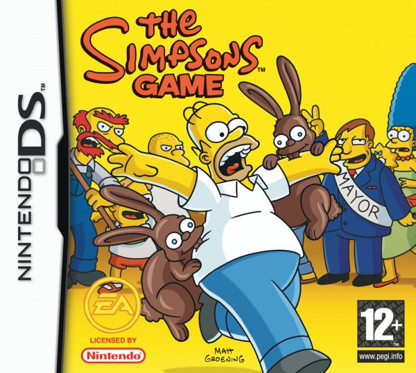 The Simpsons Game Cover Artwork