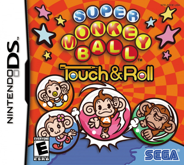 Super Monkey Ball Touch and Roll Cover Artwork
