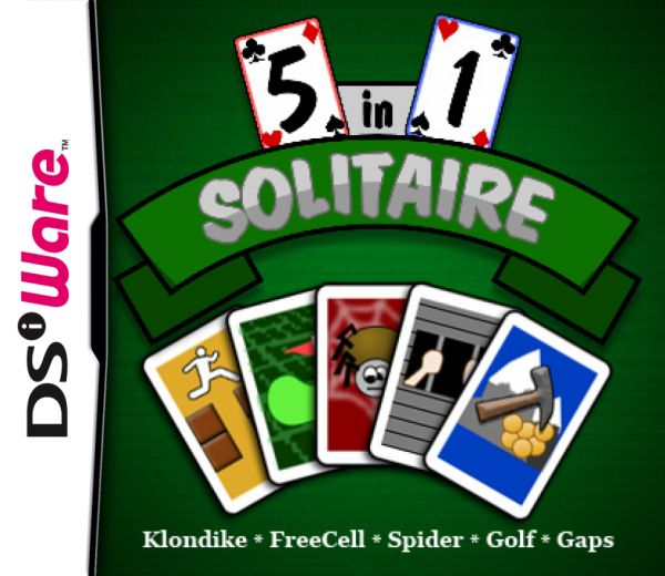 5 in 1 Solitaire Cover Artwork