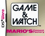 Game & Watch Mario's Cement Factory Cover (Click to enlarge)