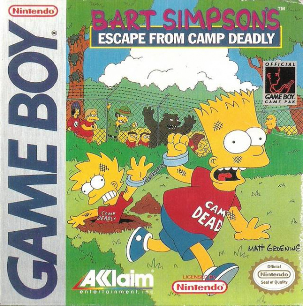 Bart Simpson's Escape from Camp Deadly Cover Artwork