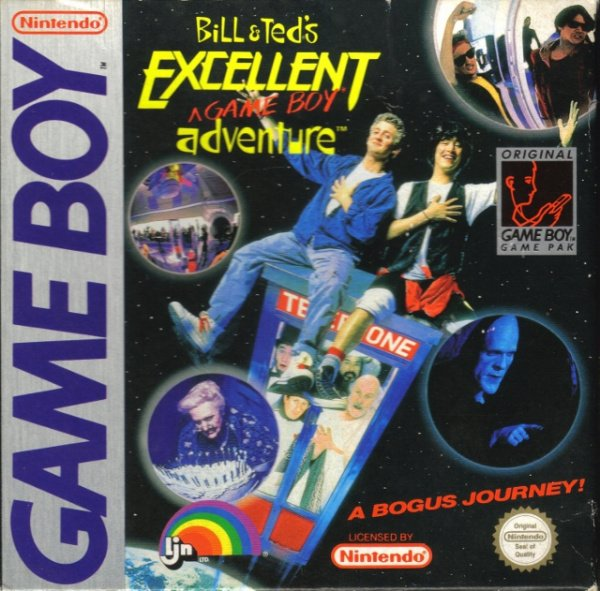 Bill & Ted's Excellent Game Boy Adventure Cover Artwork