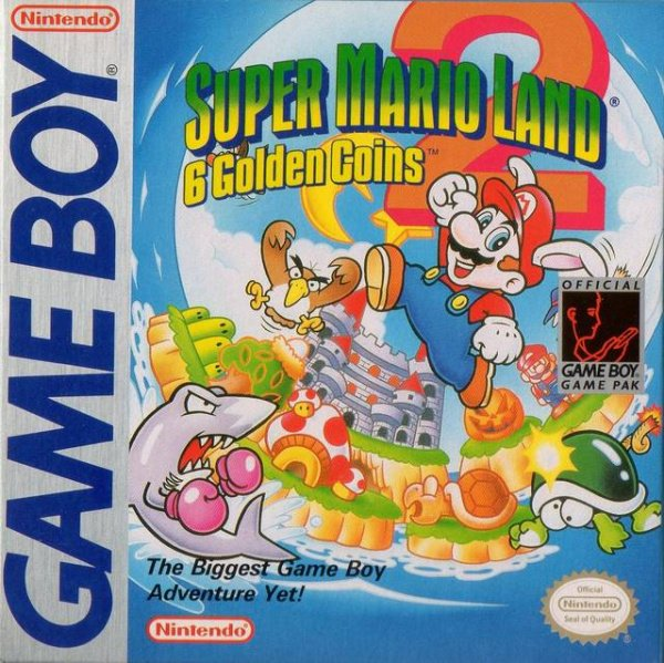 Super Mario Land 2: 6 Golden Coins Cover Artwork