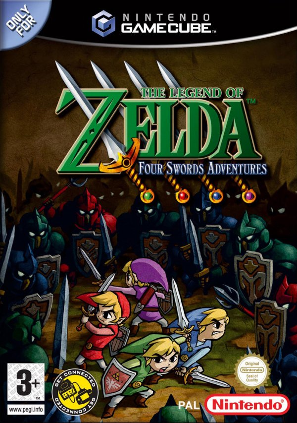 The Legend of Zelda: Four Swords Adventures Cover Artwork