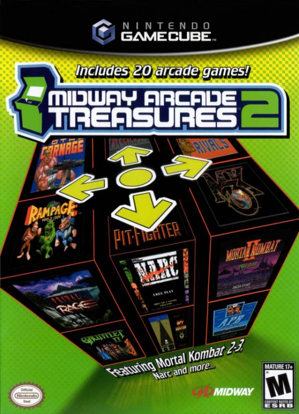 Midway Arcade Treasures 2 Cover Artwork