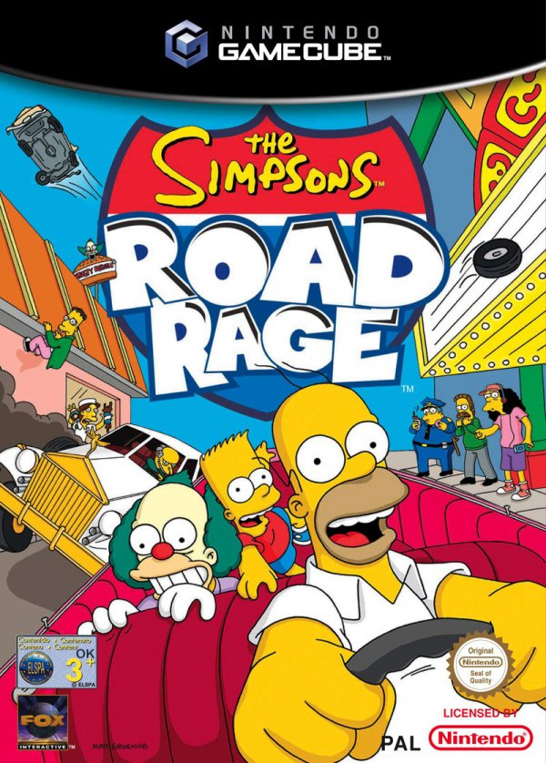 The Simpsons Road Rage Cover Artwork
