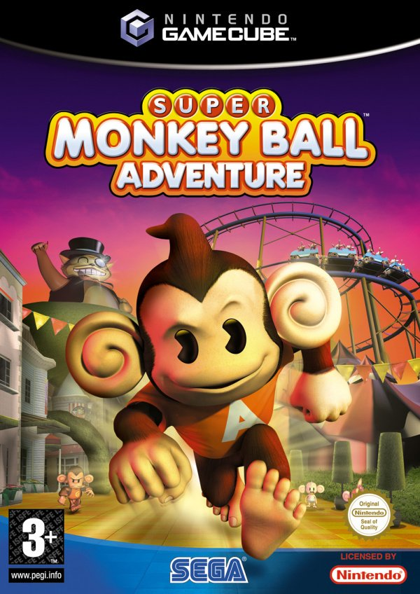 Super Monkey Ball Adventure Cover Artwork