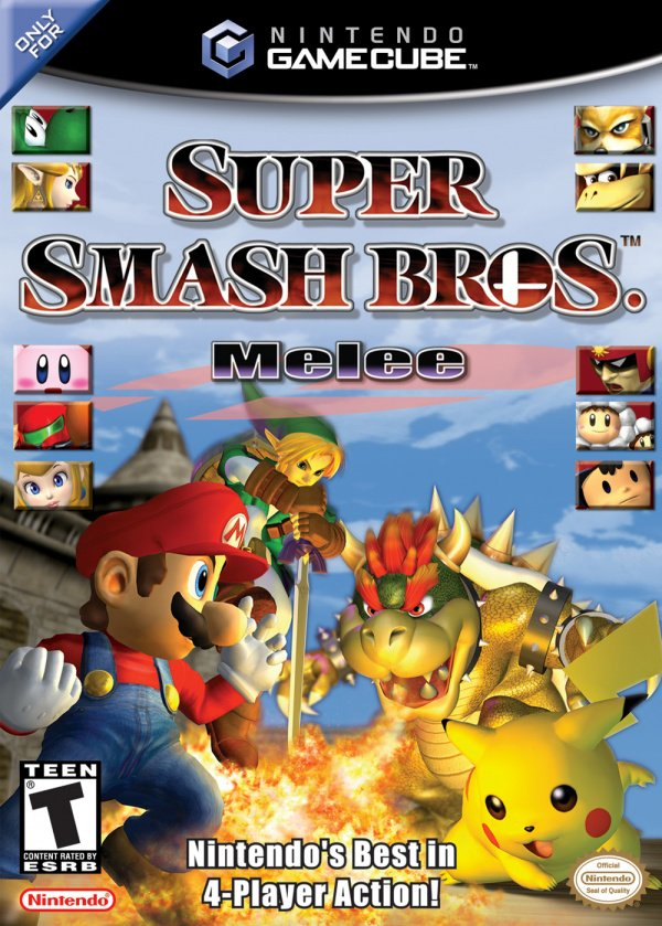 Super Smash Bros. Melee Cover Artwork