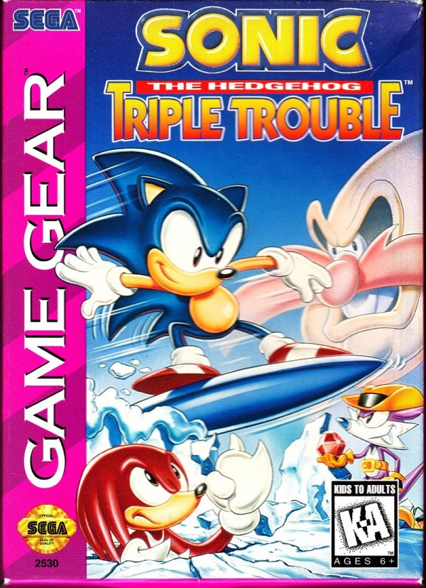Sonic the Hedgehog: Triple Trouble Cover Artwork