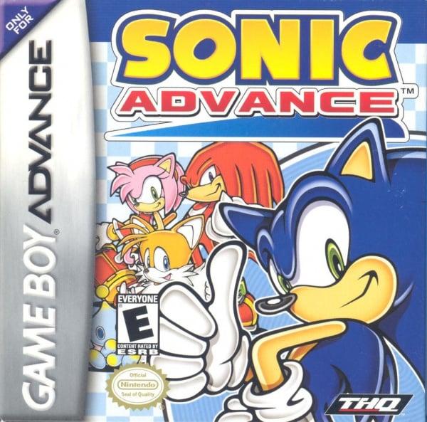 Sonic Advance Cover Artwork