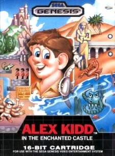 Alex Kidd in the Enchanted Castle Cover Artwork