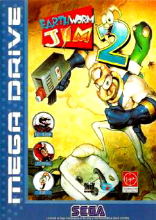 Earthworm Jim 2 Cover Artwork