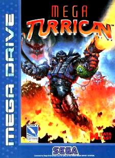 Mega Turrican Cover Artwork