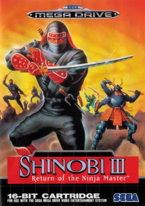 Shinobi III: Return of the Ninja Master Cover Artwork