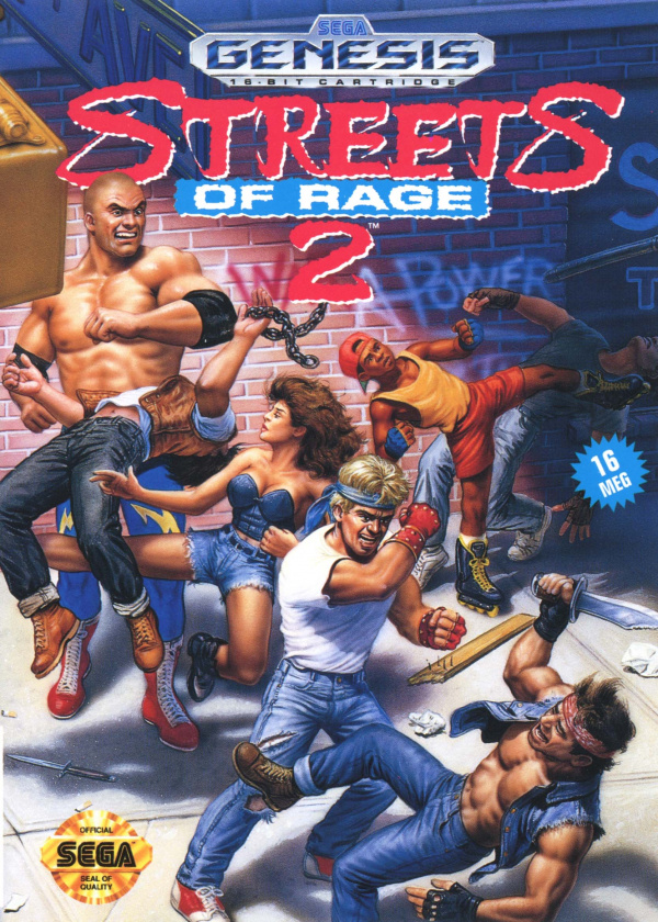 Streets of Rage 2 Cover Artwork