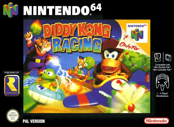 Diddy Kong Racing Cover Artwork