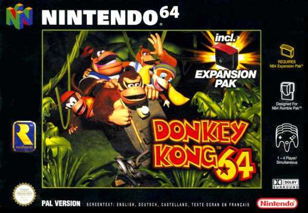 Donkey Kong 64 Cover Artwork