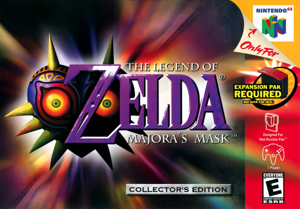 The Legend of Zelda: Majora's Mask Cover Artwork