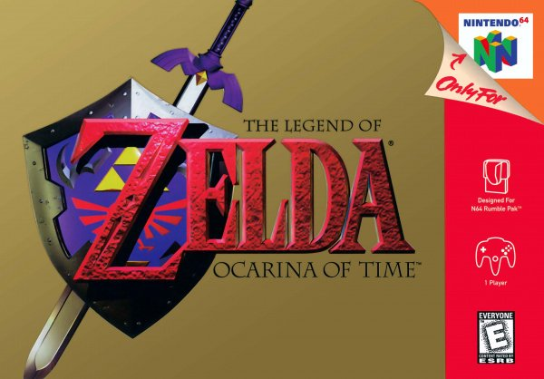 The Legend of Zelda: Ocarina of Time Cover Artwork