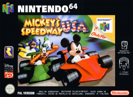 Mickey's Speedway USA Cover (Click to enlarge)