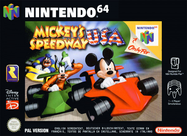 Mickey's Speedway USA Cover Artwork
