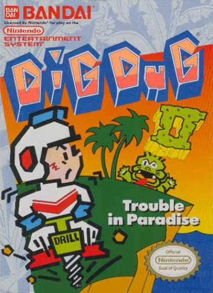 Dig Dug Cover Artwork