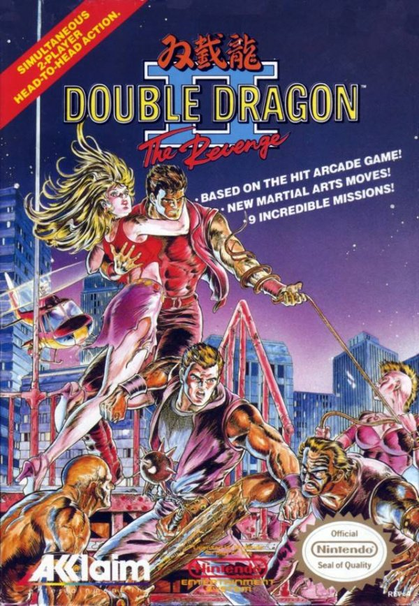 Double Dragon II: The Revenge Cover Artwork