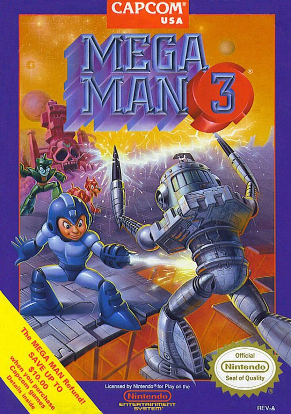 Mega Man 3 Cover Artwork