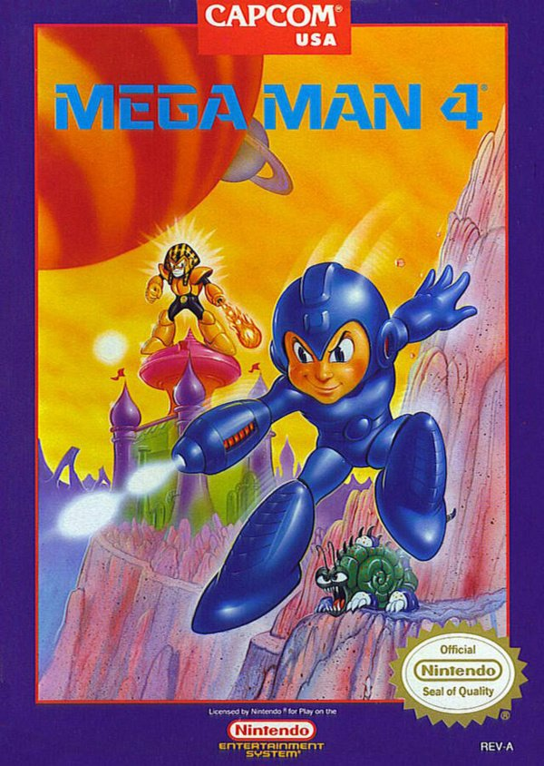 Mega Man 4 Cover Artwork