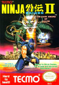 Ninja Gaiden II: The Dark Sword of Chaos Cover Artwork
