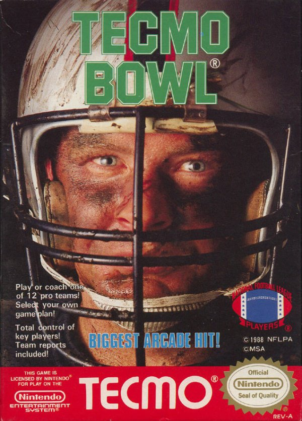 Tecmo Bowl Cover Artwork