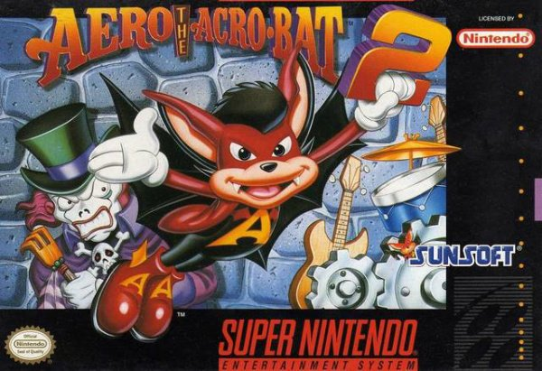 Aero the Acrobat 2 Cover Artwork