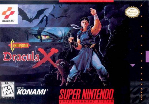 Castlevania: Dracula X Cover Artwork
