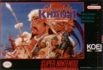 Genghis Khan II: Clan of the Gray Wolf Cover Artwork