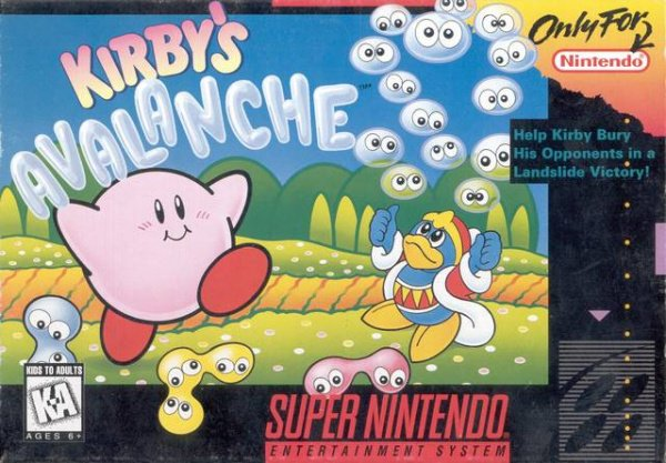 Kirby's Avalanche Cover Artwork