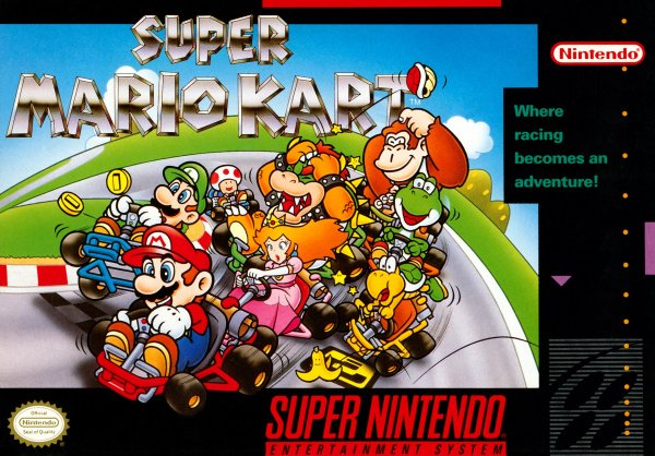 Super Mario Kart Cover Artwork